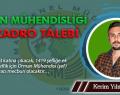 Orman Mühendisliği ve Kadro Talebi