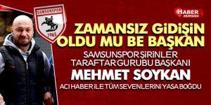 Şirinler taraftar Gurubu Başkanı Mehmet Soykan Hayatını Kaybetti