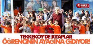 Tekkeköy'de Kitaplar öğrencilerin ayağına gidiyor