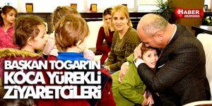 Başkan Togar'a kendileri küçük yürekleri büyük ziyaretçiler