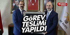 AK Parti Samsun İl Başkanlığı'nda devir teslim yapıldı