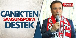 Canik'ten Samsunspor'a destek