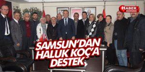 SAMSUN'DAN HALUK KOÇ'A DESTEK