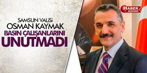 Samsun Valisi Kaymak Gazetecileri Unutmadı