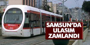 Samsun'da ulaşım zamlandı