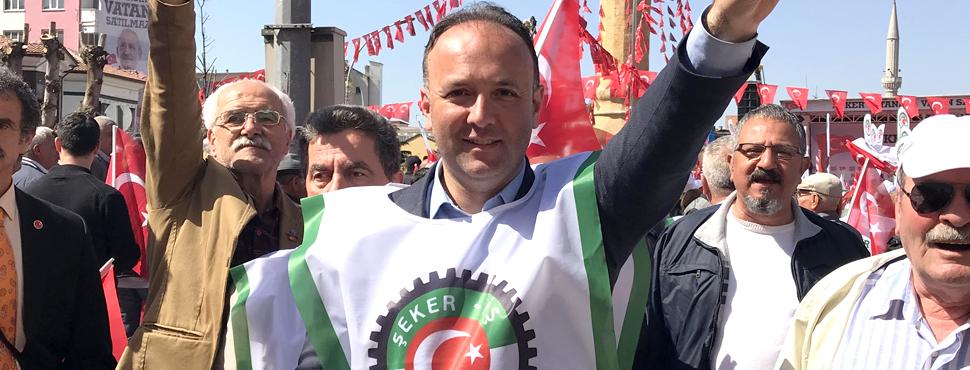 CHP SAMSUN, ÇORUM ŞEKER MİTİNGİNDE