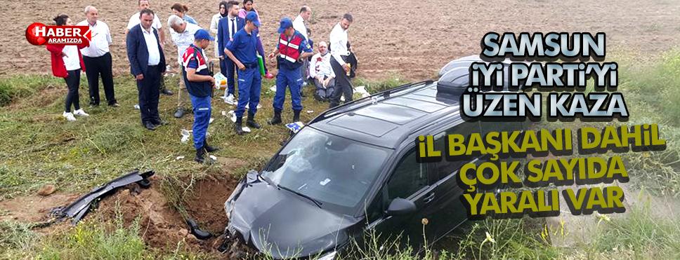 İYİ Parti Samsun İl Başkanı Ömer Süslü ve 6 Kişi Kaza Geçirdi