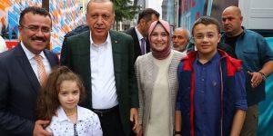 Cumhurbaşkanı Erdoğan'a Samsun'da kutlama