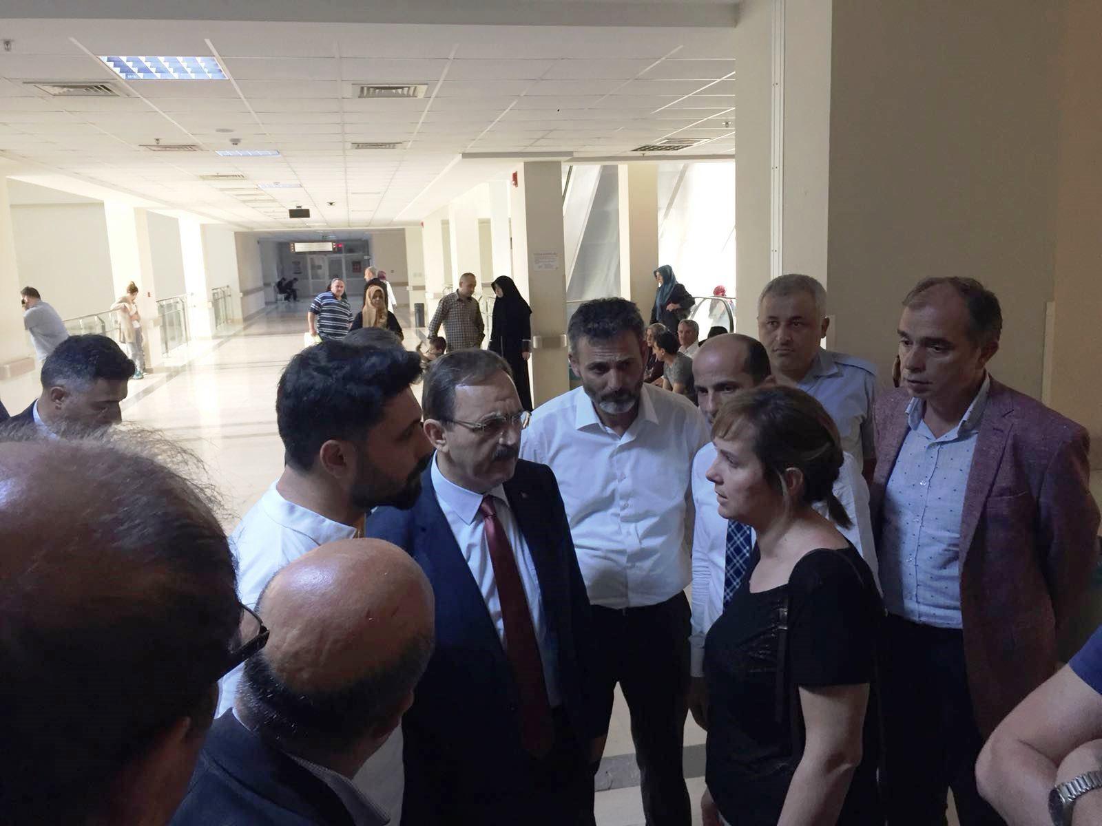 Başkan Şahin İYİ Parti'yi Hastanede Ziyaret Etti