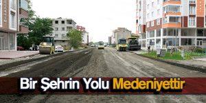 Tekkeköy'de Asfalt Çalışmaları Sürüyor