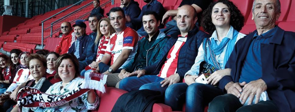 Samsunspor'a tam destek