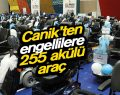 Canik'ten engellilere 255 akülü araç