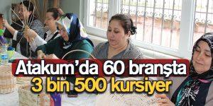 Atakum'da 60 branşta 3 bin 500 kursiyer