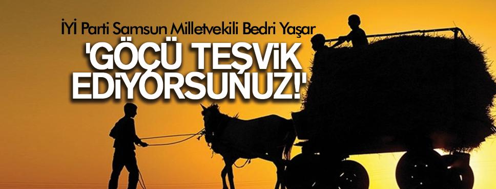 BEDRİ YAŞAR 'GÖÇÜ TEŞVİK EDİYORSUNUZ!'