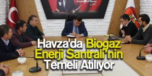 Havza'ya Biogaz Enerji Santrali Kuruluyor