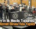 İlkadım'ın İlk Meclis Toplantısı Yeni Hizmet Binası'nda Yapıldı