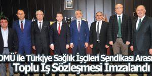 OMÜ ile Türkiye Sağlık İşçileri Sendikası Arasında Toplu İş Sözleşmesi İmzalandı