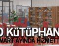 Tekkeköy İlçe Halk Kütüphanesi Mart'ta Hizmette