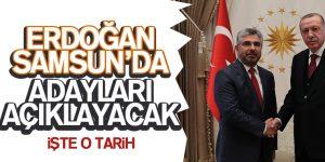Cumhurbaşkanı Erdoğan 19 Ocak'ta Samsun'da…!