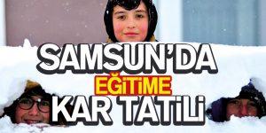 Samsun'da Eğitime Kar Tatili