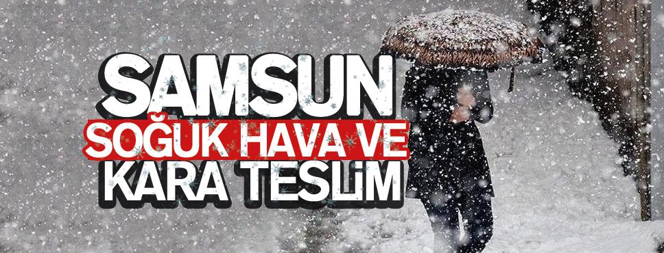 Samsun'da Yoğun Kar Yağışı