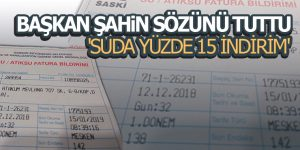 Samsun'da 'SUDA YÜZDE 15 İNDİRİM'