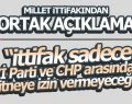 Samsun CHP ve İYİ PARTİ'den Ortak Açıklama