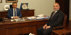 Başkan Sandıkçı'dan Vali Kaymak'a ziyaret