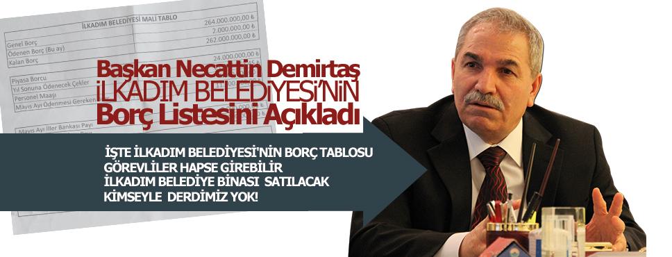 Başkan Demirtaş Belediye'nin Borcunu Açıkladı