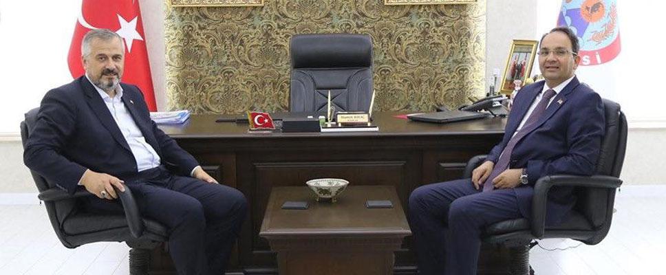 Kaymakam Ertükmen'den Başkan Kılıç'a İade-İ Ziyaret