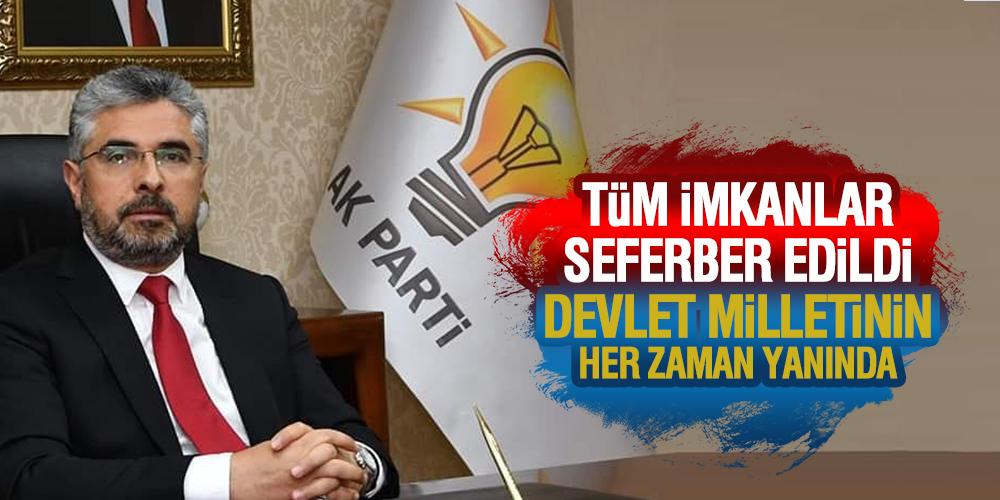 Başkan Aksu Devlet milletinin yanında
