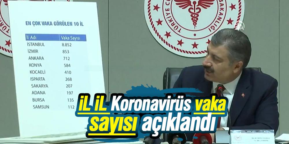 Bakan Koca il il Koronavirüs vaka sayısını açıkladı