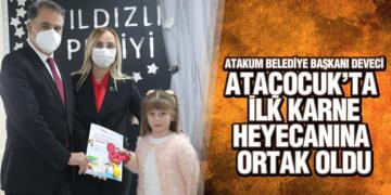 AtaÇocuklu Minikler İlk Karnelerini Başkan Cemil Deveci'den Aldı