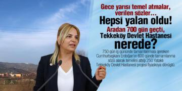 CHP'li Hancıoğlu 'Sözü Verilen Tekkeköy Devlet Hastanesi Nerede?'