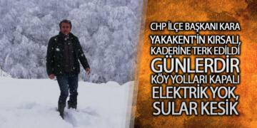 CHP İlçe Başkanı Kara: 'Yakakent'in Kırsalı, Kaderine Terk Edildi'
