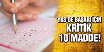 YKS'de Başarı İçin Kritik 10 Madde!