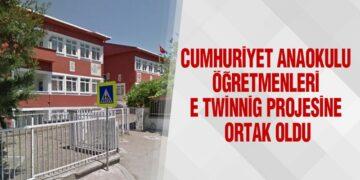 Cumhuriyet Anaokulu Öğretmenleri E Twinnig Projesine Ortak Oldu