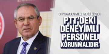 Zeybek'ten PTT Açıklaması