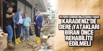 Milletvekili Yaşar, Sel Bölgesinde