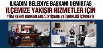 Başkan Demirtaş'dan Kurum Ziyaretleri