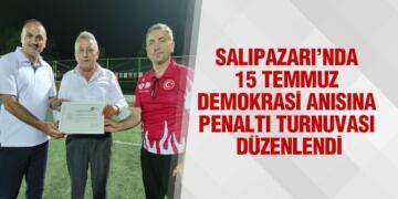 Salıpazarı'nda 15 Temmuz Demokrasi Anısına Penaltı Turnuvası Düzenlendi