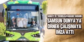 Samsun'da kullanılacak elektrikli otobüsler kamu kurumlarına örnek gösterildi