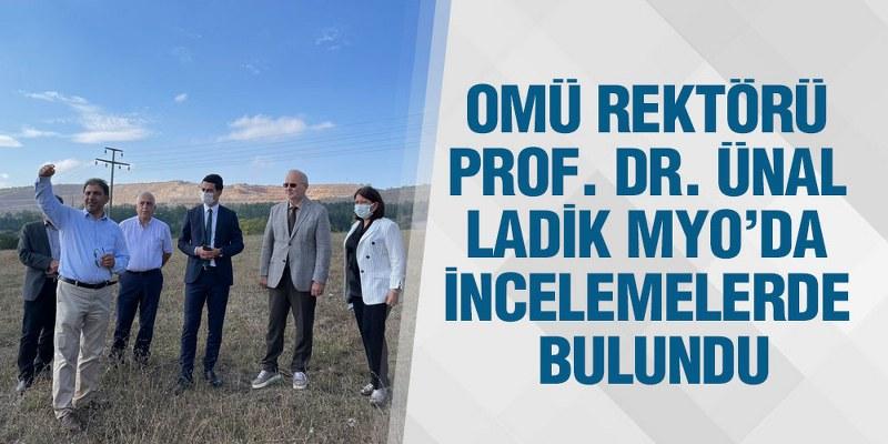 OMÜ Rektörü Prof. Dr. Ünal, Ladik MYO'da İncelemelerde Bulundu