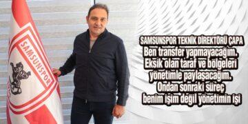 Samsunspor'un Yeni Hocası Çapa'dan İlk Açıklama