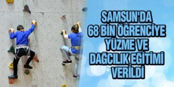 Samsun'da Öğrencilere Yüzme ve Dağcılık Eğitimi Verildi