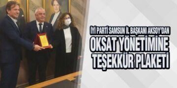 Aksoy, 'OKSAT' Yöneticilerine Plaket Verdi