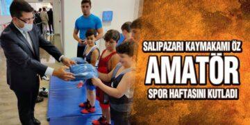Salıpazarı Kaymakamı Öz, Amatör Spor Haftasını Kutladı