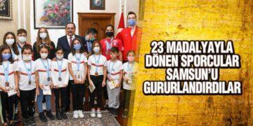 23 Madalyayla Dönen Sporcular Samsun'u Gururlandırdılar