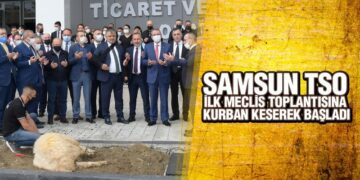 Samsun TSO Yeni binada, İlk Meclisini Dualarla Kurban Keserek Gerçekleştirildi