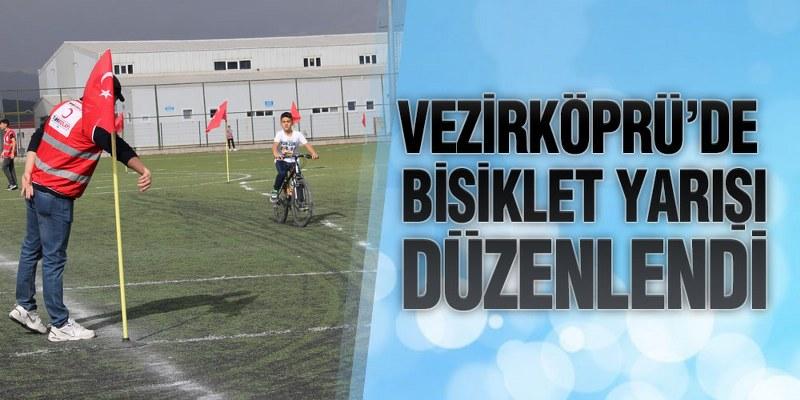 Vezirköprü'de Bisiklet Yarışı Düzenlendi